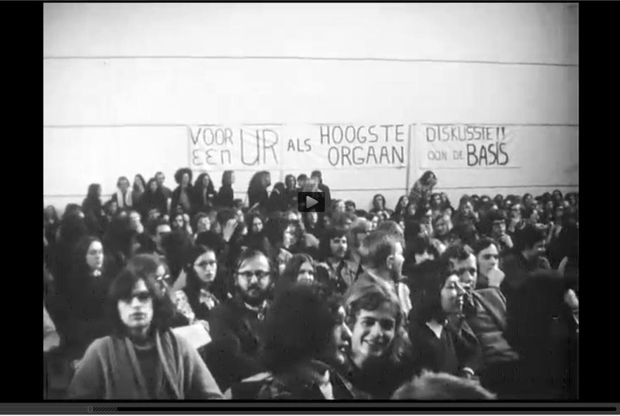 Still uit de film Bezet (1972), door Arie van Genderen voor SRVU