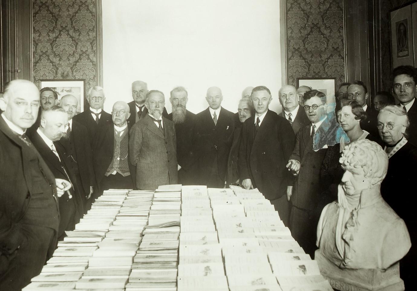 Opening Bilderdijkmuseum, VU-hoofdgebouw, Keizersgracht 164, 1931(Fotocollectie HDC, VU).