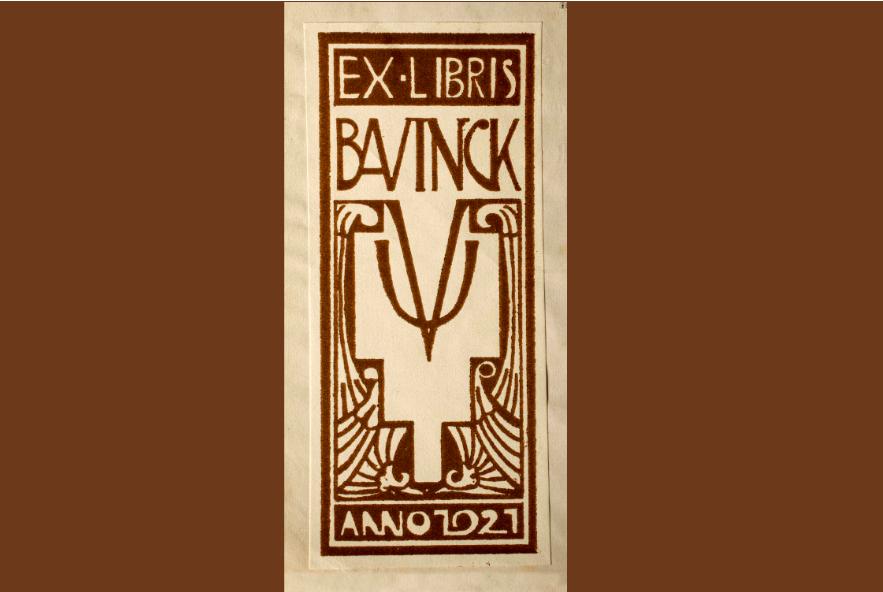 De ex libris uit een boek van Bavinck, VU erfgoed en collecties